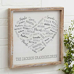 Farmhouse Heart Personalized 12-Inch Square Barnwood Frame Wall Art