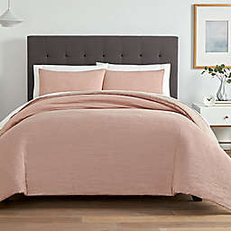 Washed Twill 3-Piece King Comforter Set in Blush