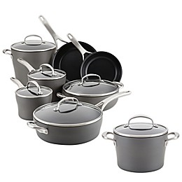 Anolon® Allure Nonstick Hard-Anodized 12-Piece Cookware Set Plus Bonus Gift in Dark Grey