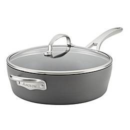 Anolon® Allure Nonstick 5 qt. Hard-Anodized Covered Saute Pan in Dark Grey