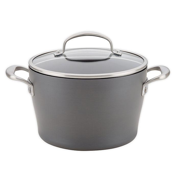 Alternate image 1 for Anolon® Allure Nonstick 5 qt. Hard-Anodized Covered Dutch Oven in Dark Grey