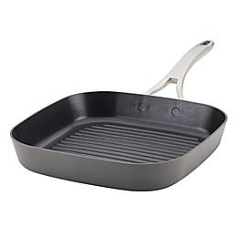 Anolon® Allure Nonstick 11-Inch Hard-Anodized Grill Pan in Dark Grey