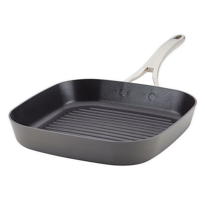 Alternate image 1 for Anolon® Allure Nonstick 11-Inch Hard-Anodized Grill Pan in Dark Grey