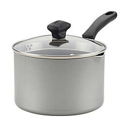 Farberware® Cookstart Nonstick 3 qt. Aluminum Covered Straining Saucepan in Silver