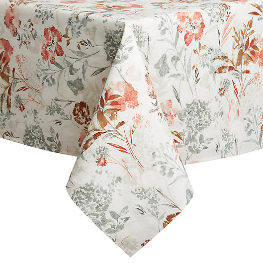 Alternate image 1 for Floral Fields Laminated Tablecloth in Natural