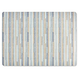 Twill Stripe Laminated Placemat in Blue