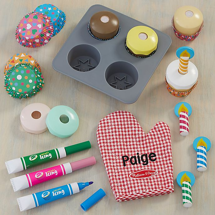 Alternate image 1 for Melissa & Doug® Personalized Bake & Decorate Cupcake Set