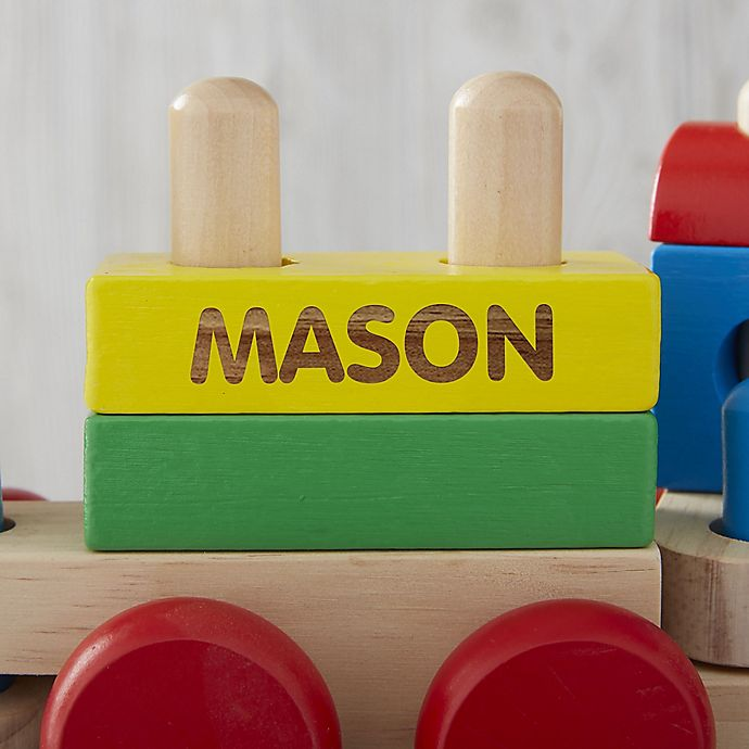 Alternate image 1 for Melissa & Doug® Personalized Stacking Train