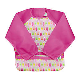 green sprouts®  Size 2T-4T Ice Pop Easy-Wear Long Sleeve Bib in Pink