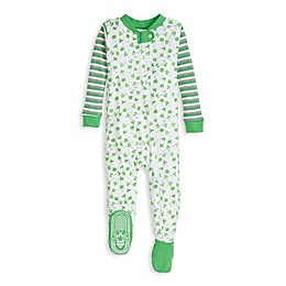Burt's Bees Baby® Lucky Clovers Organic Cotton Toddler Sleeper in Emerald
