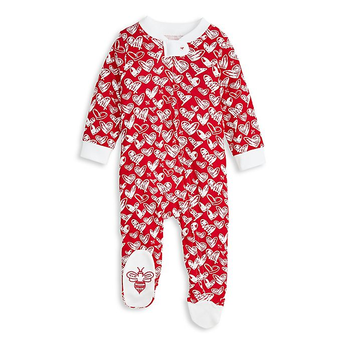 Alternate image 1 for Burt's Bees Baby® Newborn Heartbeat Organic Cotton Sleep and Play in Red