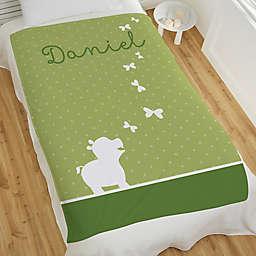 Baby Zoo Animals Personalized 60-Inch x 80-Inch Fleece Blanket