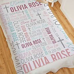 Christening For Her Personalized 50-Inch x 60-Inch Sherpa Blanket