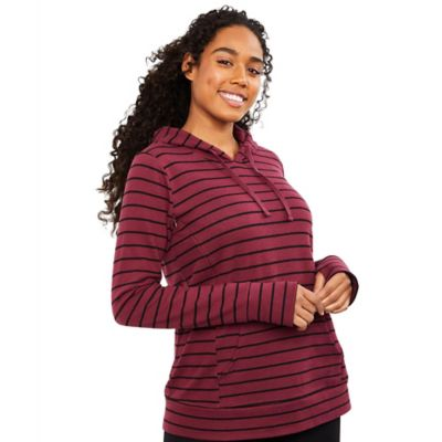Motherhood Maternity Small Striped Side Access Nursing Hoodie In Purple Shefinds
