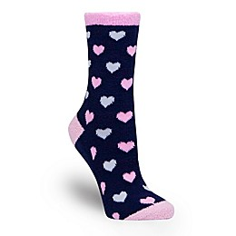 Waddle One Size Mama in the Making Maternity Push Spa Socks in Navy/Pink