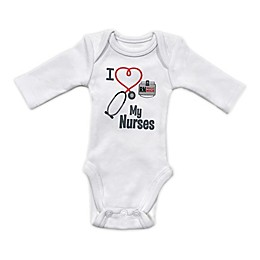 Sara Kety® Preemie Love Nurse Bodysuit in White