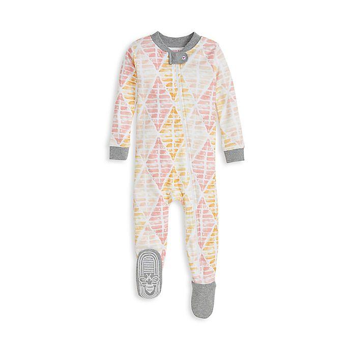 Alternate image 1 for Burt's Bees Baby® Brilliant Diamond Organic Cotton Toddler Sleeper in Peach