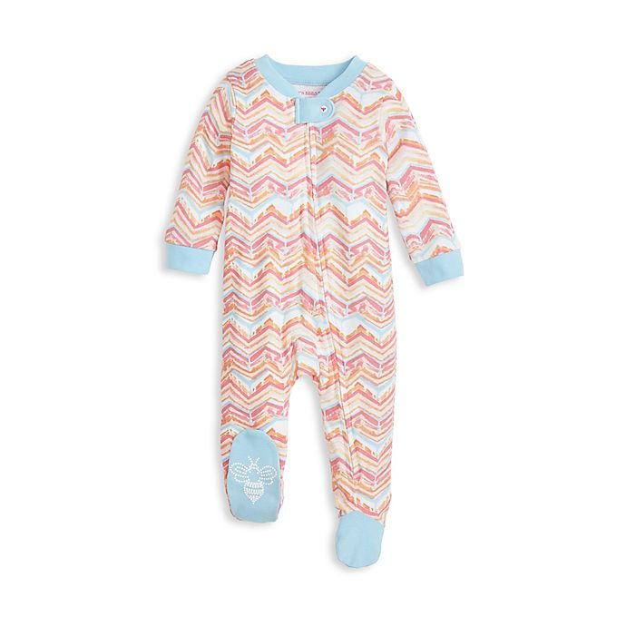 Alternate image 1 for Burt's Bees Baby® Melted Chevron Organic Cotton Sleep and Play