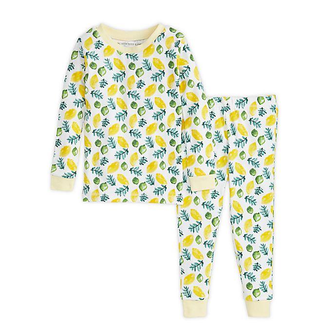 Alternate image 1 for Burt's Bees Baby® 2-Piece Lemon Lime Organic Cotton Toddler Pajama Set