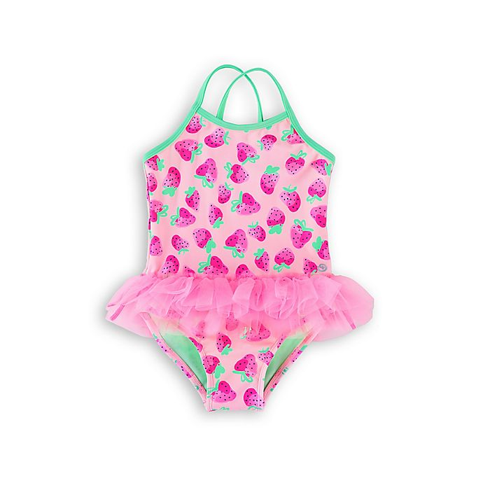 Alternate image 1 for Wowease™ Strawberry Toddler Swimsuit