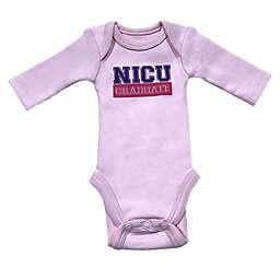 """Sara Kety® Preemie """"NICU Graduate"""" Long Sleeve Bodysuit in Pink"""
