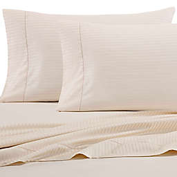 Wamsutta® 525-Thread-Count PimaCott® Wrinkle Resistant Stripe King Flat Sheet in Ivory