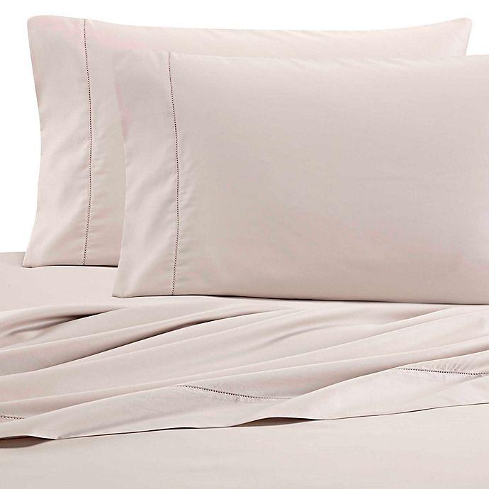 Alternate image 1 for Wamsutta® PimaCott 525-Thread-Count Wrinkle Resistant Standard Pillowcase Pair in Khaki