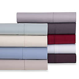 Wamsutta® 525-Thread-Count PimaCott® Wrinkle Resistant Twin Flat Sheet in Burgundy