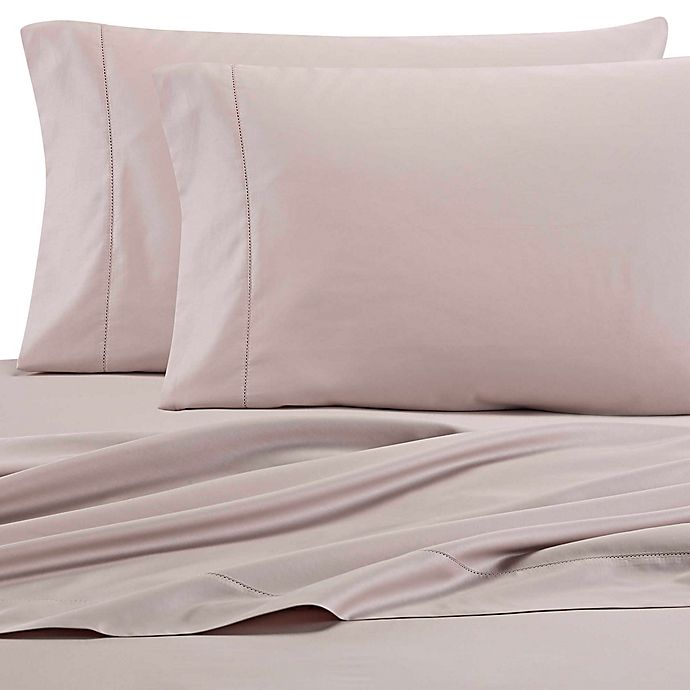 Alternate image 1 for Wamsutta® 525-Thread-Count PimaCott® Wrinkle Resistant Full Fitted Sheet in Silver