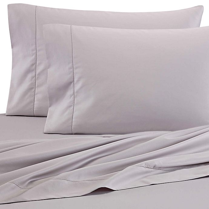 Alternate image 1 for Wamsutta® 525-Thread-Count PimaCott® Wrinkle Resistant Twin Fitted Sheet in Stone