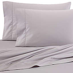 Wamsutta® PimaCott® Solid 525-Thread-Count Twin XL Flat Sheet in Stone