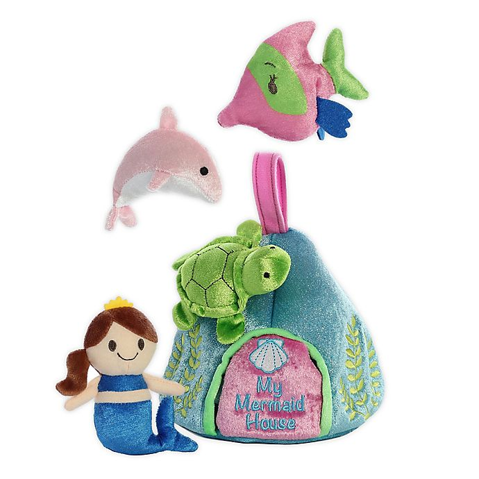 Alternate image 1 for Aurora World® My Mermaid House Plush Toy Set