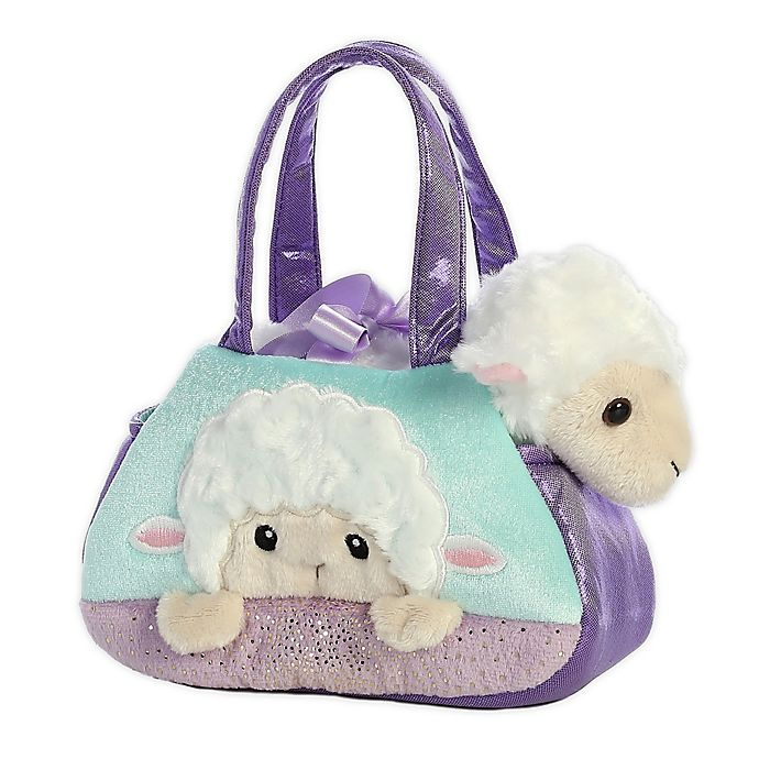 Alternate image 1 for Aurora World® Fancy Pals Peek-a-Boo Lamb 2-Piece Plush Toy Set in Purple/Blue
