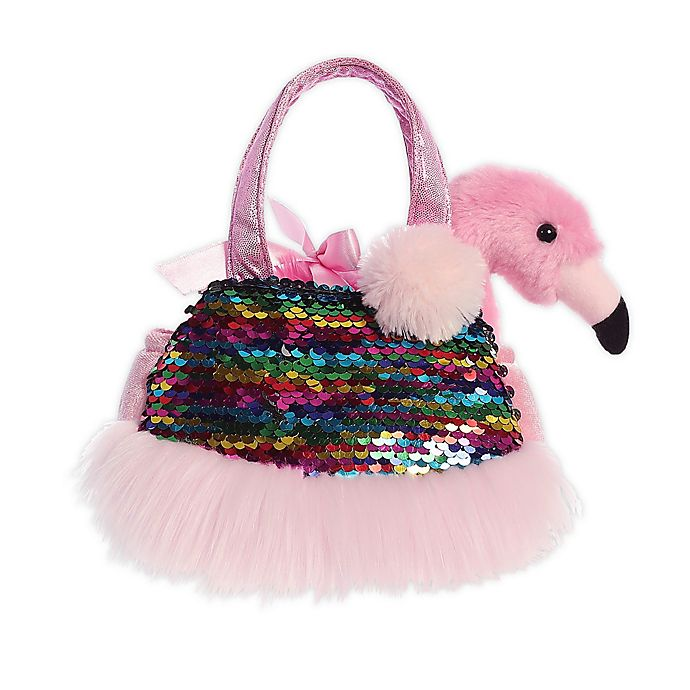 Alternate image 1 for Aurora World® Fancy Pals Shimmers Flamingo 2-Piece Plush Toy Set in Pink/Multi