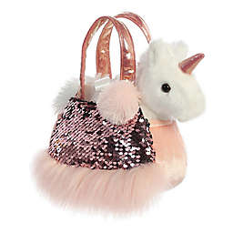 Aurora World® Fancy Pals Shimmers Rose Unicorn 2-Piece Plush Toy Set in Pink/White