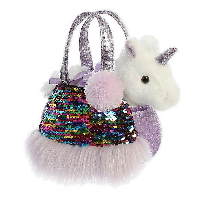 Alternate image 1 for Aurora World® Fancy Pals Shimmers Rainbow Unicorn 2-Piece Plush Toy Set in Purple/White