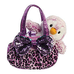 Aurora World® Shimmers Penguin Plush with Carrier in Purple