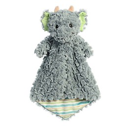 Aurora World® Skylar Dragon Plush Luvster Baby Blanket in Grey