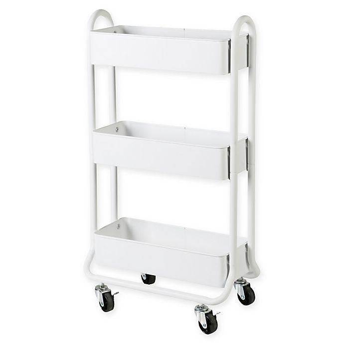 Salt Narrow Bath Storage Cart In