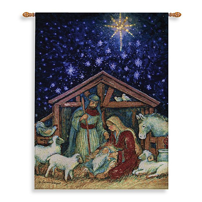 26 Inch X 36 Inch Away In A Manger Wall Tapestry Bed Bath Beyond