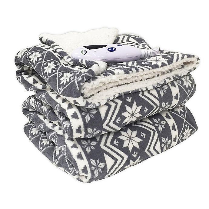 Alternate image 1 for Biddeford™ Blankets MicroPlush Electric Throw Blanket