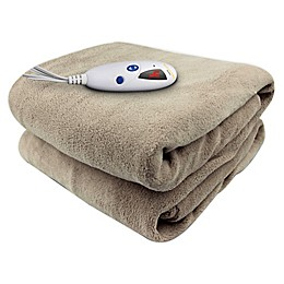 Biddeford™ Blankets Velour and Sherpa Heated Blanket
