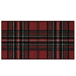 Bee and Willow™ Home Plaid 20-Inch x 34-Inch Tufted Holiday Accent Rug in Red