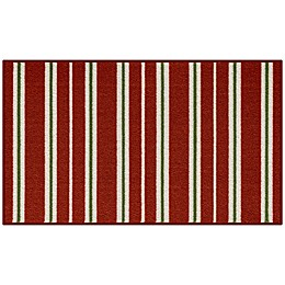 Bee and Willow™ Home Stripe 20-Inch x 34-Inch Tufted Holiday Accent Rug in Red/White