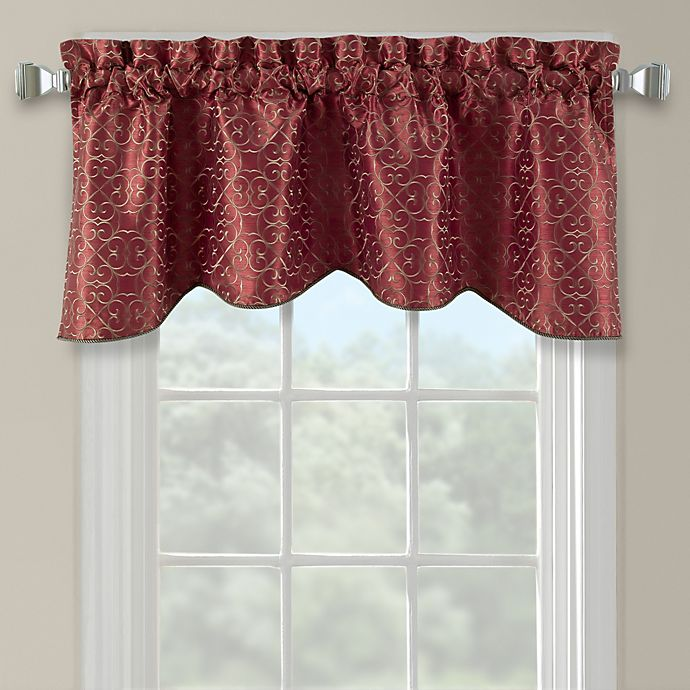 Alternate image 1 for Darrow Embroidered Arch Scallop Valance