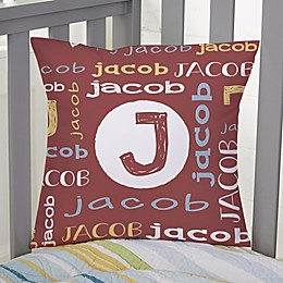 Youthful Name For Him Personalized 14-Inch Square Throw Pillow
