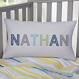 Colorful Name For Him Personalized 12-Inch x 22-Inch Lumbar Throw Pillow