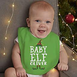 Christmas Elf Personalized Baby Bib