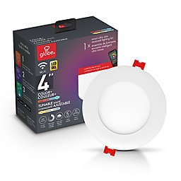 Globe Electric Smart Wi-Fi Color Changing LED Recessed Light