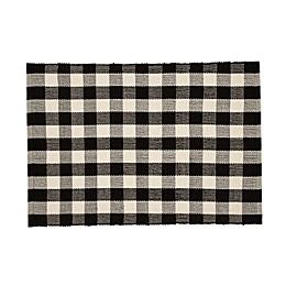 Mohawk Home® Gingham Door Mat in Black/White